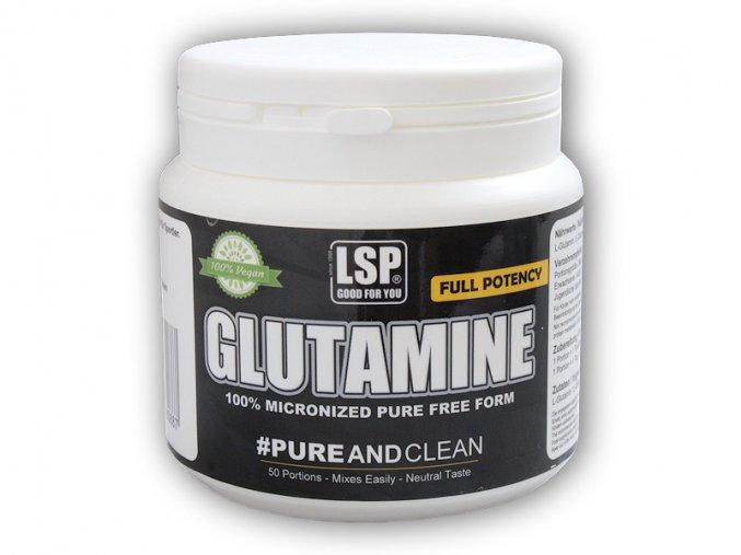 LSP Nutrition L-Glutamine 100% crystal pure 250g  + šťavnatá tyčinka ZDARMA