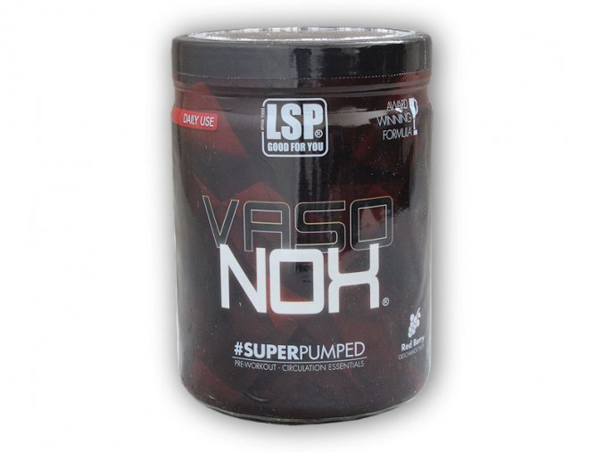 LSP Nutrition Vaso NOx 450g circulation essentials  + šťavnatá tyčinka ZDARMA