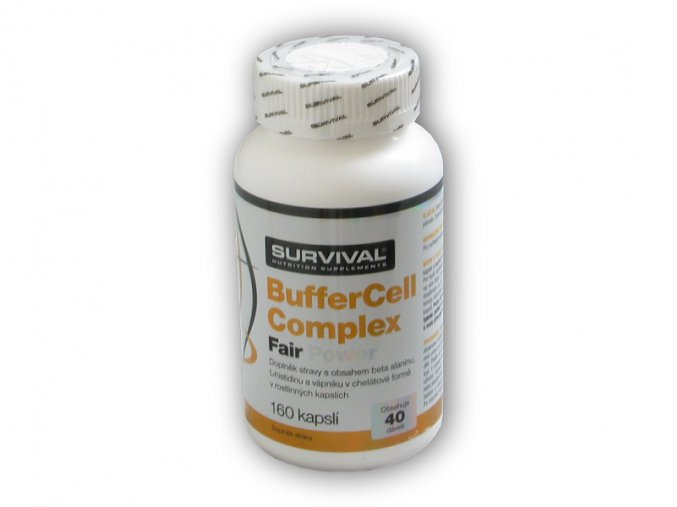 Survival Buffercell complex fair power 160 kapslí  + šťavnatá tyčinka ZDARMA