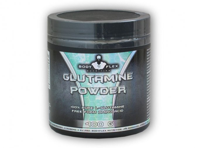 Bodyflex Glutamine powder 400g  + šťavnatá tyčinka ZDARMA