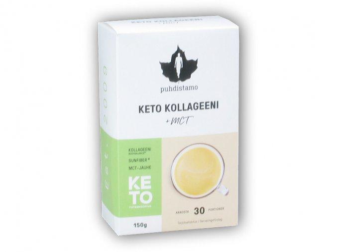 Puhdistamo Premium Keto Kollagen + MCT 150g  + šťavnatá tyčinka ZDARMA