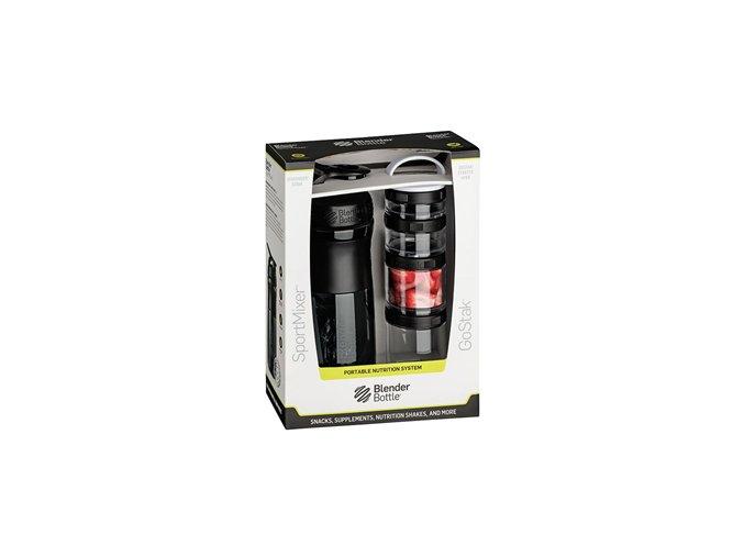 BlenderBottle Sport Mixer® GoStack  + šťavnatá tyčinka ZDARMA