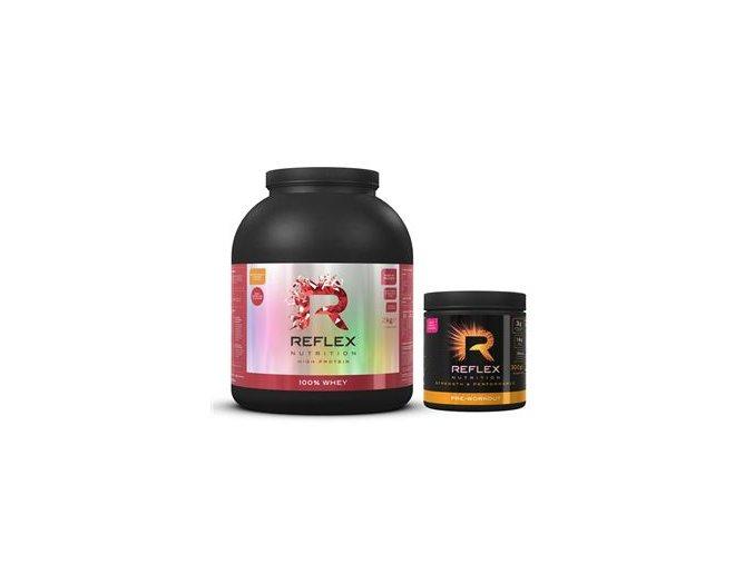 Reflex 100% Whey Protein 2kg + Pre Workout 300g  + šťavnatá tyčinka ZDARMA