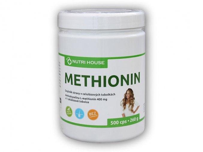 Nutri House Methionin 400mg 500 kapslí  + šťavnatá tyčinka ZDARMA