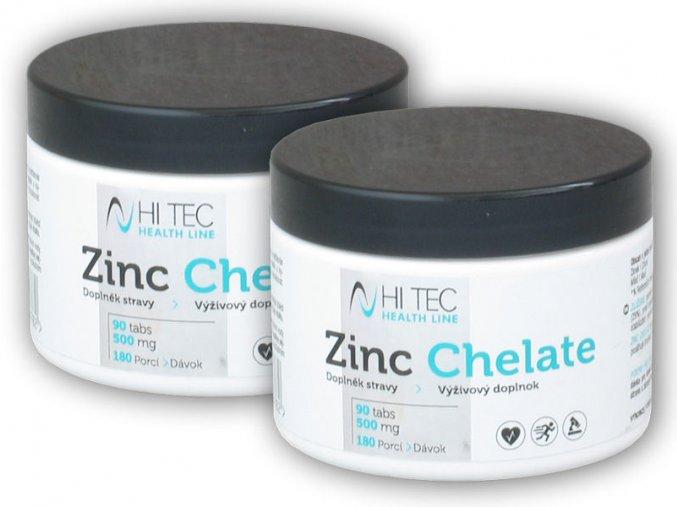 Hi Tec Nutrition 2x Health Line Zinc Chelate 500mg 90 tablet  + šťavnatá tyčinka ZDARMA