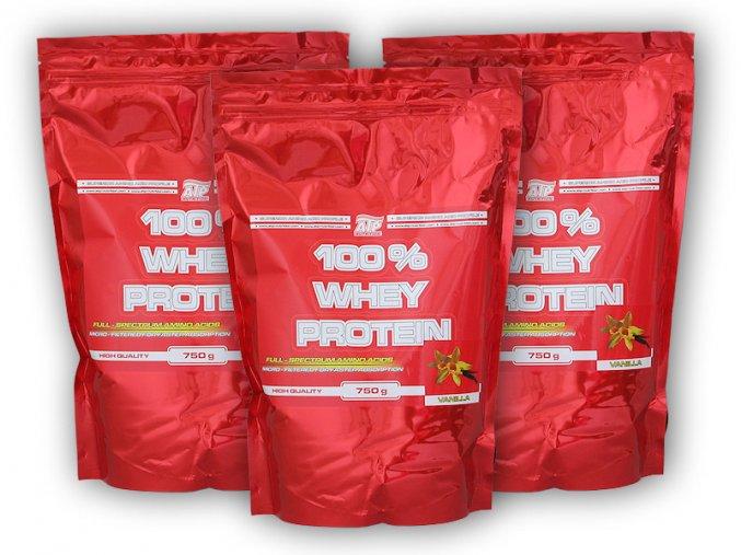 PROTEIN ATP Nutrition 3x 100% Whey Protein 750g  + šťavnatá tyčinka ZDARMA
