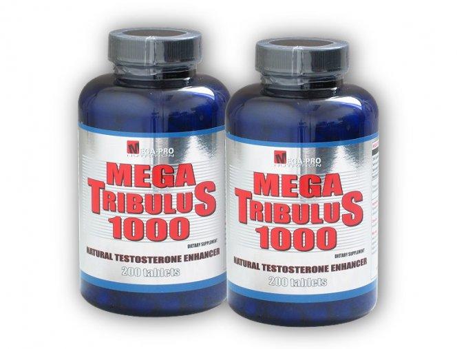 Mega Pro Nutrition 2x Mega Tribulus 1000 200 tablet  + šťavnatá tyčinka ZDARMA