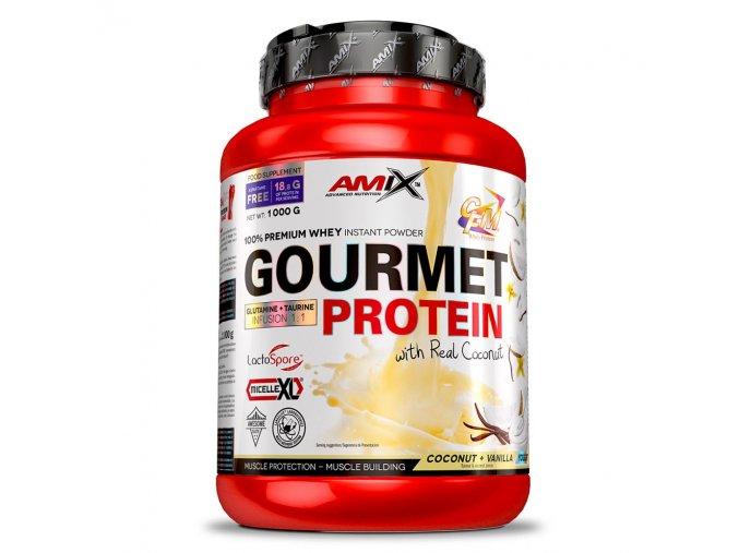 PROTEIN Amix Gourmet Protein 1000g  + šťavnatá tyčinka ZDARMA