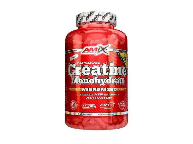 Amix Creatine Monohydrate 220 kapslí  + šťavnatá tyčinka ZDARMA