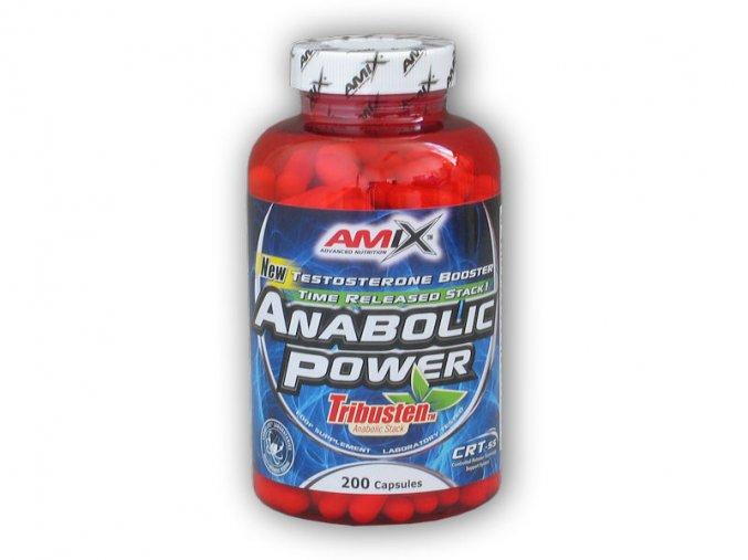 Amix Tribusten Anabolic Power 200 kapslí  + šťavnatá tyčinka ZDARMA