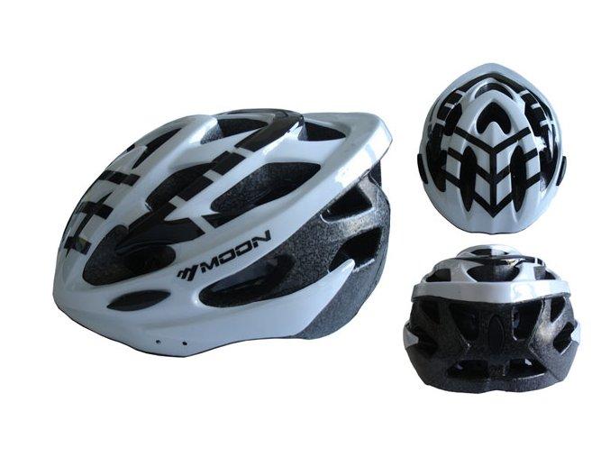 ACRA CSH30B-M bílá cyklistická helma velikost M (55-58cm) 2018  + šťavnatá tyčinka ZDARMA