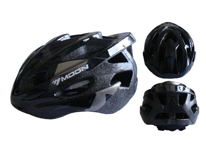 ACRA CSH30B-M černá cyklistická helma velikost M (55-58cm) 2018  + šťavnatá tyčinka ZDARMA