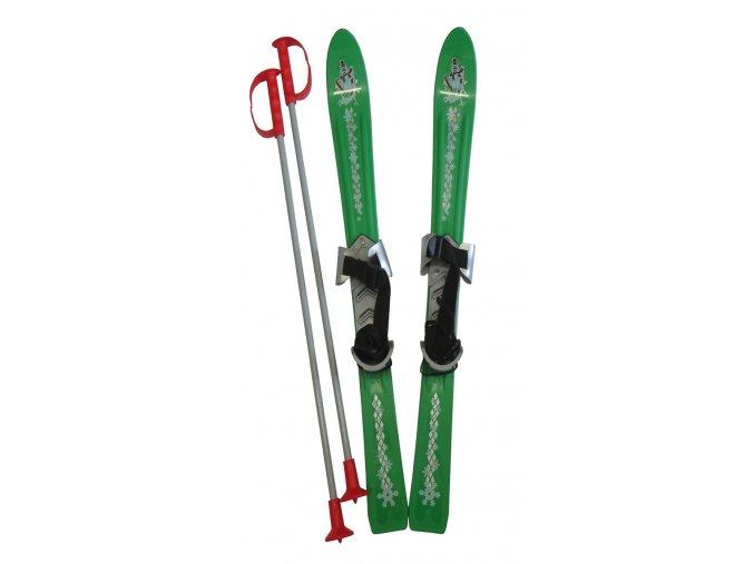 ACRA LSP90-ZE Lyže dětské 90cm zelené  + šťavnatá tyčinka ZDARMA