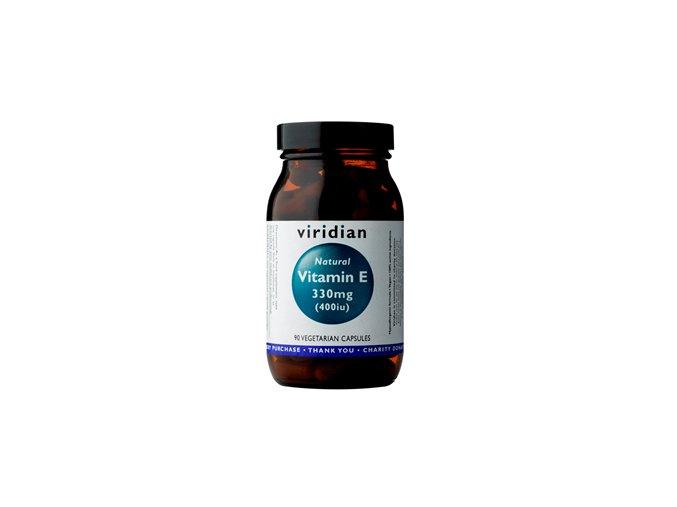 Viridian Vitamin E 330mg 400iu 90 kapslí  + šťavnatá tyčinka ZDARMA