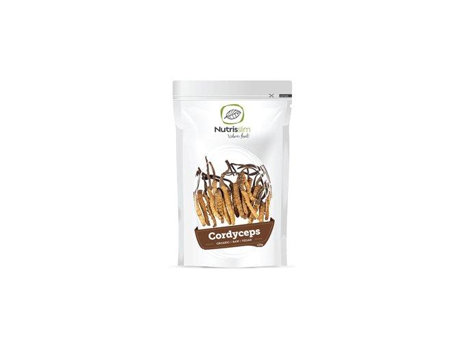Nutrisslim Cordyceps Powder Bio 125g (Housenice čínská)  + šťavnatá tyčinka ZDARMA