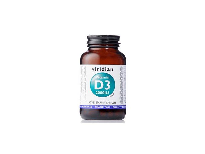 Viridian Vitamin D3 2000iu 60 kapslí  + šťavnatá tyčinka ZDARMA
