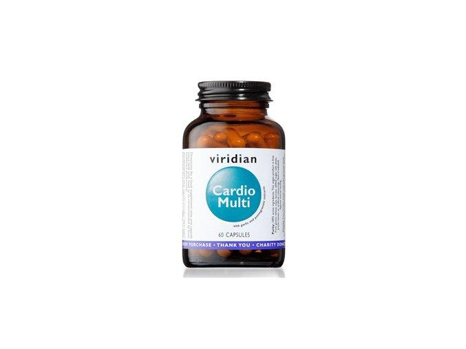 Viridian Cardio Multi 60 kapslí (Multivitamín pro kardiovaskulární systém)  + šťavnatá tyčinka ZDARMA