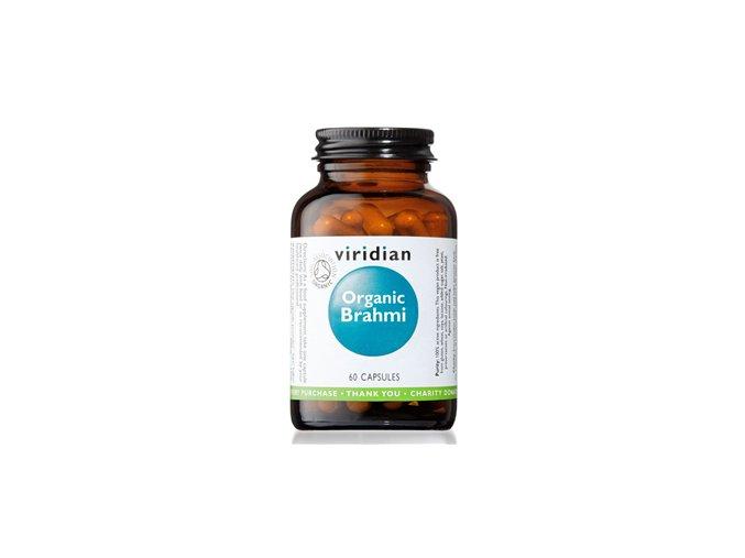 Viridian Brahmi 60 kapslí Organic  + šťavnatá tyčinka ZDARMA