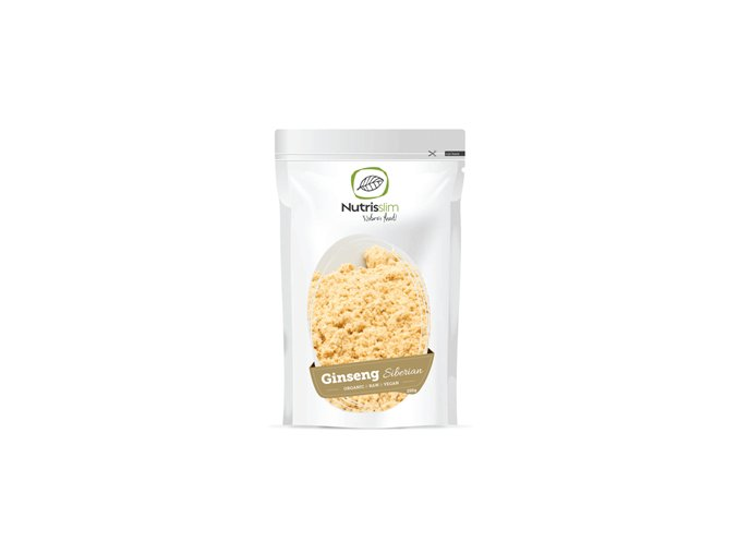 Nutrisslim Siberian Ginseng Powder Bio 250g (Sibiřský ženšen)  + šťavnatá tyčinka ZDARMA