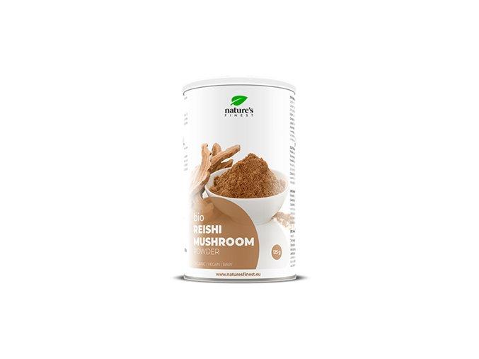 Nutrisslim Reishi Mushroom Bio 125g (Lesklokorka lesklá)  + šťavnatá tyčinka ZDARMA