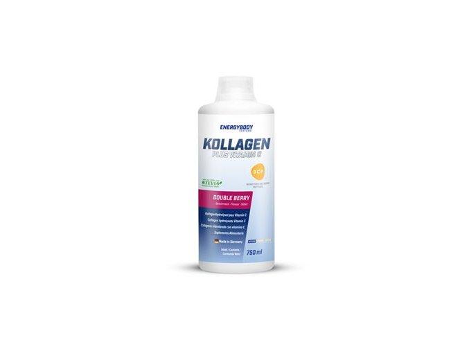 EnergyBody Kollagen BCP® + Vitamín C 750 ml - double berry  + šťavnatá tyčinka ZDARMA