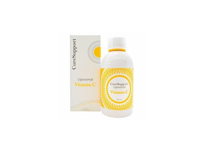 CureSupport Liposomal Vitamin C 1000mg 250ml neutral  + šťavnatá tyčinka ZDARMA