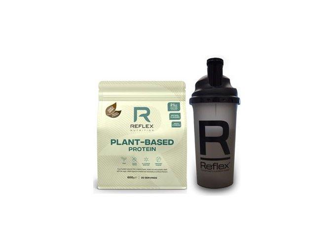 Reflex Plant Based Protein 600g + Šejkr 500ml ZDARMA (Rostlinný protein)  + šťavnatá tyčinka ZDARMA