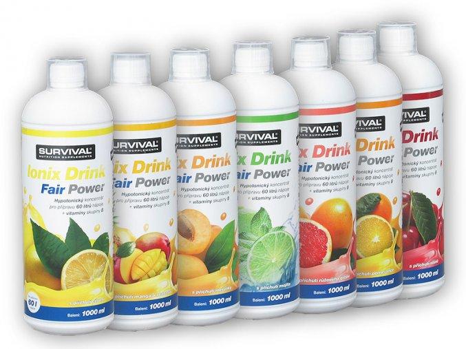 Survival Ionix Drink Fair Power 1000ml  + šťavnatá tyčinka ZDARMA