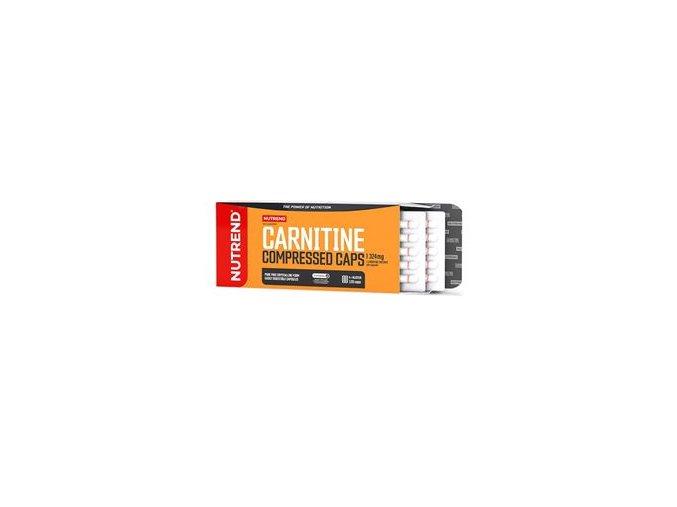 Nutrend Carnitine Compressed Caps 120 kapslí  + šťavnatá tyčinka ZDARMA