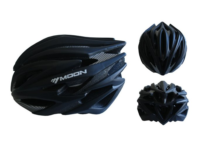 ACRA CSH98CRN-M černá cyklistická helma velikost M 2018  + šťavnatá tyčinka ZDARMA
