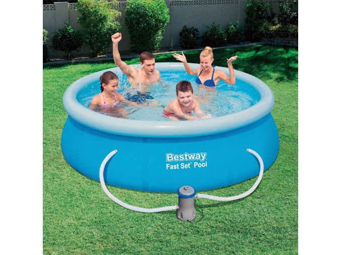 Bestway 57268 Samostavěcí bazén 244x66cm s filtrací  + šťavnatá tyčinka ZDARMA