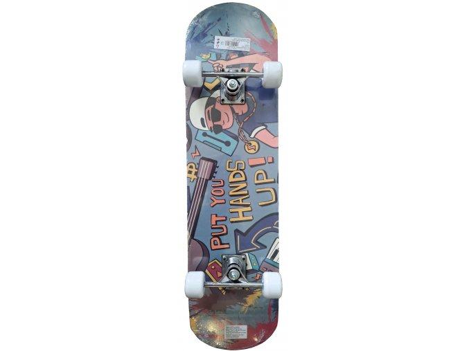 ACRA Skateboard barevný  + šťavnatá tyčinka ZDARMA