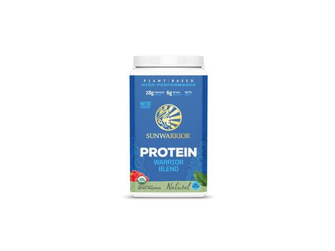 Sunwarrior Protein Blend BIO 750g unflavoured (Hrachový, konopný protein a goji)  + šťavnatá tyčinka ZDARMA