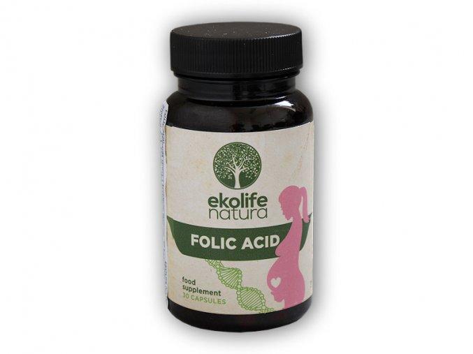 Ekolife Natura Folic Acid 30 kapslí  + šťavnatá tyčinka ZDARMA