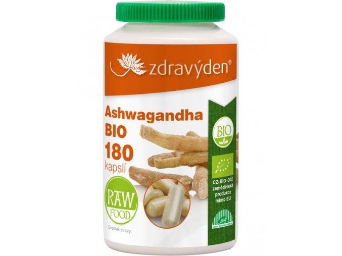 Ashwagandha BIO 180 kapslí zdravý den