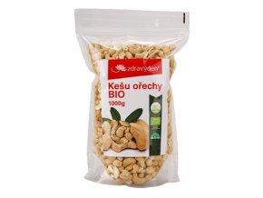 Zdravý den Kešu ořechy BIO 1000g  + šťavnatá tyčinka ZDARMA