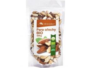 Zdravý den Para ořechy BIO 500g  + šťavnatá tyčinka ZDARMA
