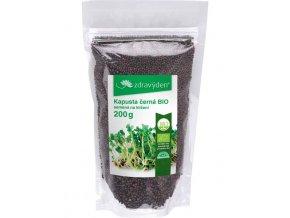 Zdravý den Kapusta černá BIO – semena na klíčení 200g  + šťavnatá tyčinka ZDARMA
