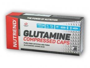 Nutrend Glutamine Compressed Caps 120 kapslí  + šťavnatá tyčinka ZDARMA