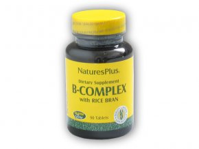 Nature's Plus Source of Life B-complex Wrica bran 90 tablet  + šťavnatá tyčinka ZDARMA