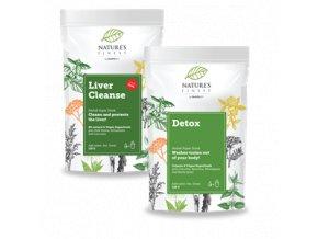 Nutrisslim Total Detox 250g (Liver Cleanse 125g + Detox 125g)  + šťavnatá tyčinka ZDARMA