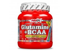 Amix L-Glutamine + BCAA 530g  + šťavnatá tyčinka ZDARMA