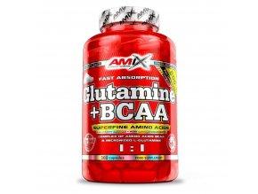 Amix L-Glutamine + BCAA 360 kapslí  + šťavnatá tyčinka ZDARMA