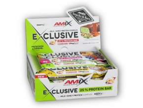Amix 12x Exclusive Protein Bar 85g  + šťavnatá tyčinka ZDARMA