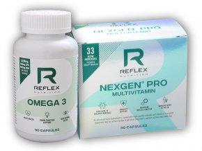 Reflex Nutrition Nexgen Pro 90 kapslí + Omega 3 90 kapslí  + šťavnatá tyčinka ZDARMA