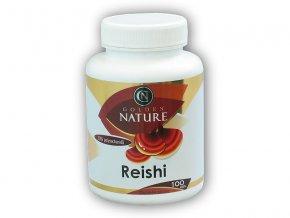 Golden Natur Reishi 30% polysacharidů 100 kapslí  + šťavnatá tyčinka ZDARMA