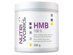 Nutri Works HMB 100% 200g  + šťavnatá tyčinka ZDARMA