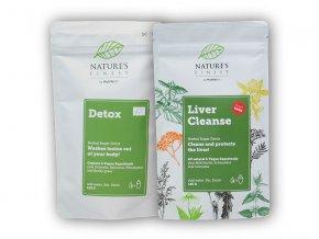 Nutrisslim Total Detox 125g+Livercleanse 125gZDARMA  + šťavnatá tyčinka ZDARMA
