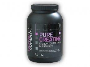 Nutri Works Pure Creatine Monohydrate 100% 1000g  + šťavnatá tyčinka ZDARMA