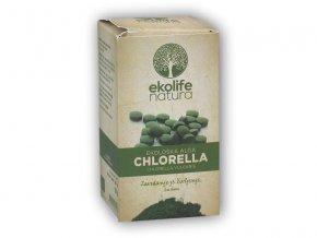 Ekolife Natura Algae Chlorella Organic 240 tablet Bio řasa  + šťavnatá tyčinka ZDARMA